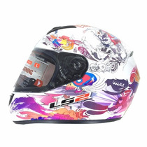 Casco Ls2 Comic Gloss White. En Rh Motos San Fernando