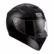 Casco Integral Agv K-3 Sv Solid Negro Urquiza Motos