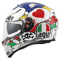 Casco Agv K3 Sv Comic Moto Gp Incluye Visera Smoke