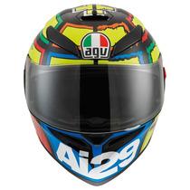Casco Agv K3 Sv Iannone Moto Gp Incluye Visera Smoke