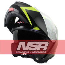 Casco Rebatible V-can V270 Doble Visor Linea 2016 Nsr Motos