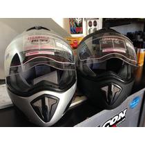 Casco Integral Motowear Rpm,colores Plata/negro,en Motopark!