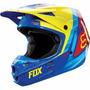 Casco Fox Helemet Vandal V1 Yellow/blue