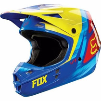 Casco Fox Helemet Vandal V1 Yellow/blue