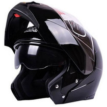 Casco Rebatible Beon Doble Visor Negro En Freeway Motos !!