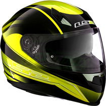 Casco Ls2 Ff384 Iron Yellow Integral Doble Visor Fas Motos!!
