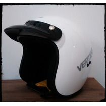 Casco Vertigo Basic Retro Blanco Cafe Racer Custom $$$