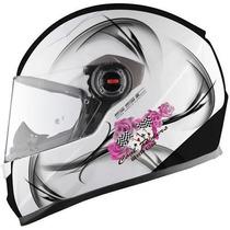 Casco Ls2 Ff358 Cool White Mujer Nuevo!!! Moto Delta Tigre