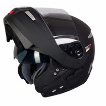Casco Rebatible Mt Raptor Doble Visor Negro Mate Devotobikes