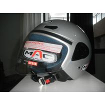 Mac Helmets Of 518 Sm Gloss Silver- Talle L (59/60)