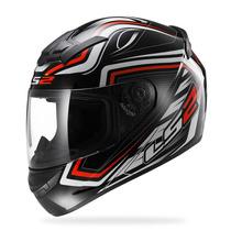 Casco Integral Ls2 Ff352 Ranger Black / Red En Fas Motos !!