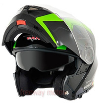 Casco Rebatible V-can V270 Doble Visor 2015 En Freeway Motos