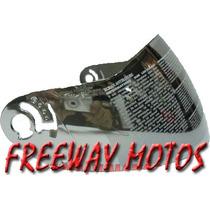 Visor Espejado Zeus Modelo 508 Rebatible En Freeway Motos !