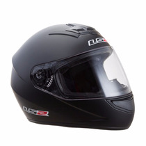 Casco Integral Mono Matt Black Ff350 Ls2 (negro Mate)