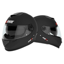 Oferta Nuevo Casco Hawk Rs11 Doble Visor - Obvio Fas Motos