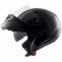 Casco Rebatible Agv Compact Solid Black Urquiza Motos