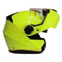 Casco Rebatible V-can V270 Doble Visor Hi Viz Freeway Motos