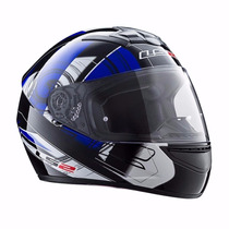 Casco Ls2 F352 Integral White Blue Single Mono Cascos Motos