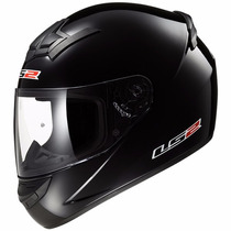 Casco Integral Ls2 Ff352 Single Mono Gloss Black Talle Xxl