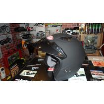 Casco Abierto Zpf Nuevo Modelo Negro Mate 2015 En Motosfiori