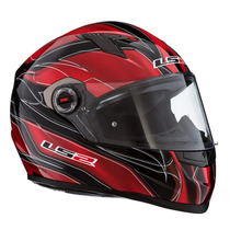 Casco Integral Ls2 358 Supra Rojo Urquiza Motos