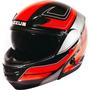 Casco Rebatible Zeus 3000 Black Red Doble Visor En Fas Motos