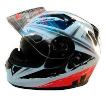 Casco V Can V122 Doble Visor White/lns-r En Freeway Motos!