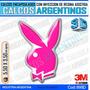 Calcos Encapsulado C/resina Domes 3d Playboy Rosa