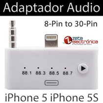 Adapador Audio Lightning 8pines 30pines Con Fm Iphone 5s Ipa