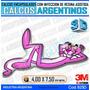 Calcomanias 3d Con Relieve, Resina Importada Pantera Rosa