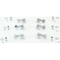 Grover 406c Mini Locking Rotomatic Tuners - 3+3 - Chrome