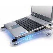 Base Cooler Pad Notebook Acrílico C/luz Hasta 17 Cpg-638b