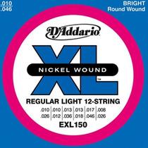Cuerdas D´addario Exl-150 P/ Guitarra Electrica - 12 Cuerdas