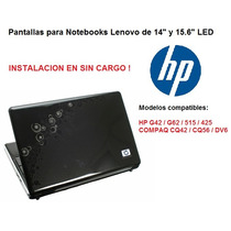 Pantallas Para Notebooks Hp Y Compaq De 14 Y 15.6 Led