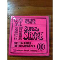 Encordado De Guitarra Electroacustica Super Slinky
