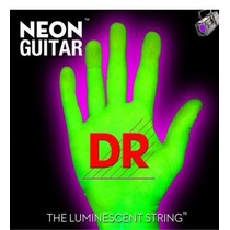 Encordado Guitarra Electrica D R Verde Fluo 09 S Fernando