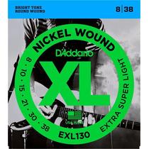 Encordado Cuerdas Daddario Guitarra Eléctrica Exl130