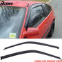 Kit Deflectores De Ventanillas Y Techo Honda Crx 88 - 91