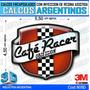 Calcomanias, Stickers, Domes Resinados 3d Logo Cafe Racer