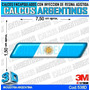 Calcomanias Con Relieve, Accesorio Autos Bandera Argentina