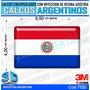 Calcomanias Con Relieve, Resina Importada Bandera Paraguay