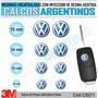 Centro De Llaves, Domes Resinados, Accesorio Auto Volkswagen