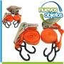 Cinta De Amarre X4 Ganchos Y Criquet 5 Metros X 25mm Local