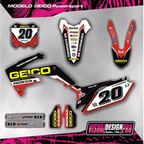 Kit Grafica Calcos Honda Crf 250-450 - 09/13 Grueso Competi.