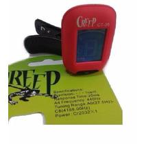 Afinador Clip Creep Ct-36 - Cromático - Rojo - Guitarra Bajo