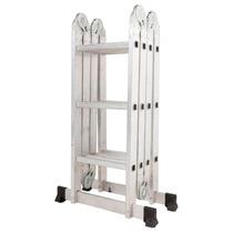 Escalera De Aluminio Multifuncion Plegable 3,70m Extendida