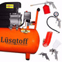 Compresor Lusqtoff 50 Lts 2.5 Hp + Kit 5 Pcs Compresor