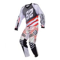 Conjunto Ls2 Motocross Team 2016 Buzo + Pantalon Nara/negro