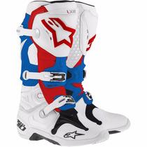 Bota Cross Tech 10 Bla/azu/roj Alpinestars - Team Motorace -
