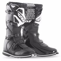 Botas Fly Negras Mx Motocross Enduro Atv Linea 2016 Qpg Team